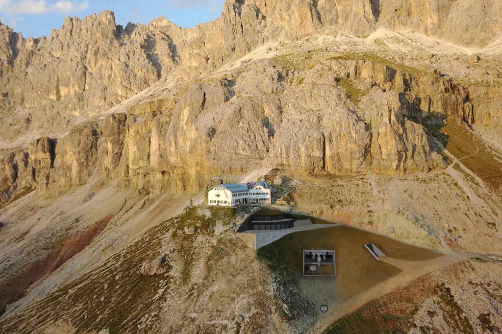 Unsichtbare Bergstation Rosengarten