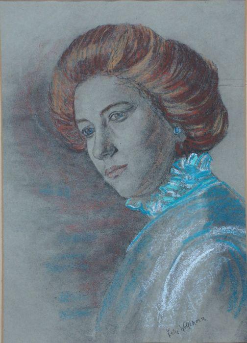 Julie Wolfthorn Porträt einer rothaarigen Dame