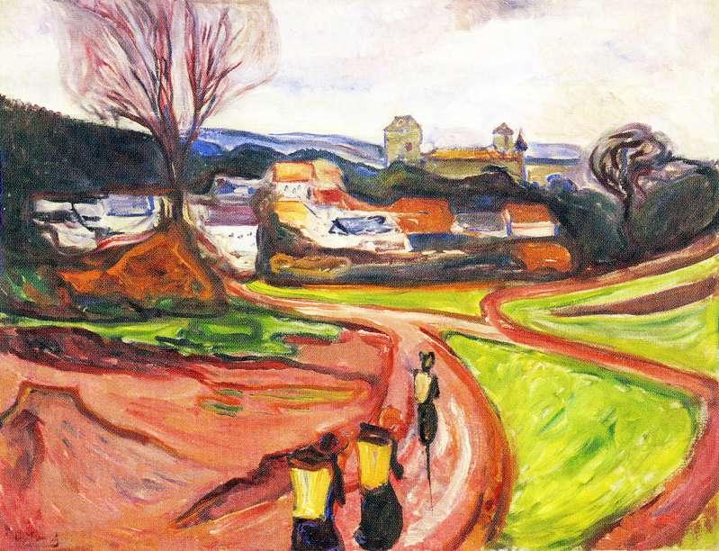 Landschaftsbild von Edvard Munch