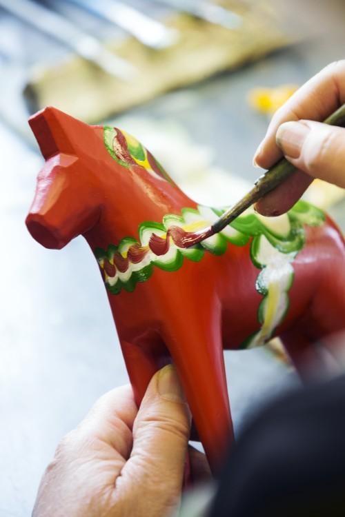 Rotes Dala-Holzpferd