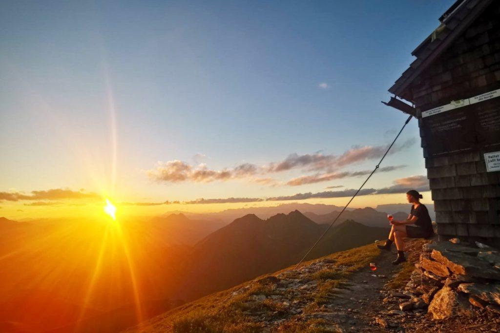 Sonnenuntergang Gamskarkogelhütte