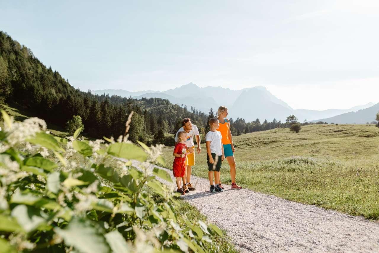 Farchant Ausgangspunkt Wanderurlaub Familie