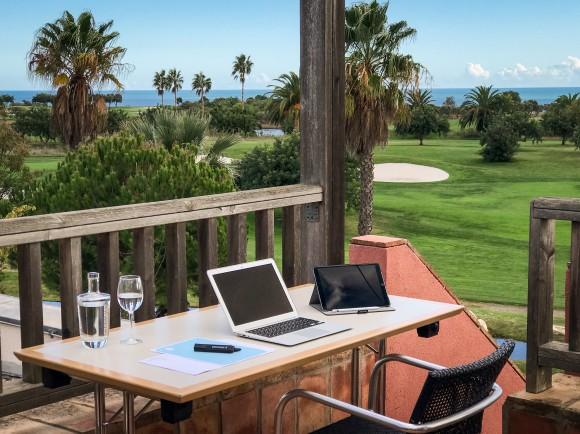 Homeoffice Algarve Golfplatz