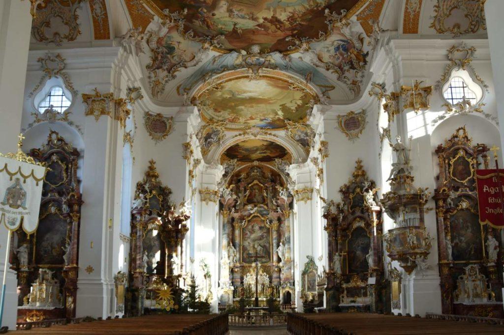 Klosterkirche Roggenburg von Innen