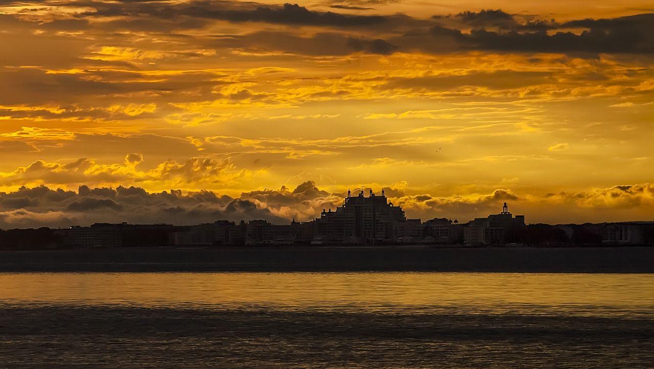 Pomorie Sonnenuntergang Spätsommer
