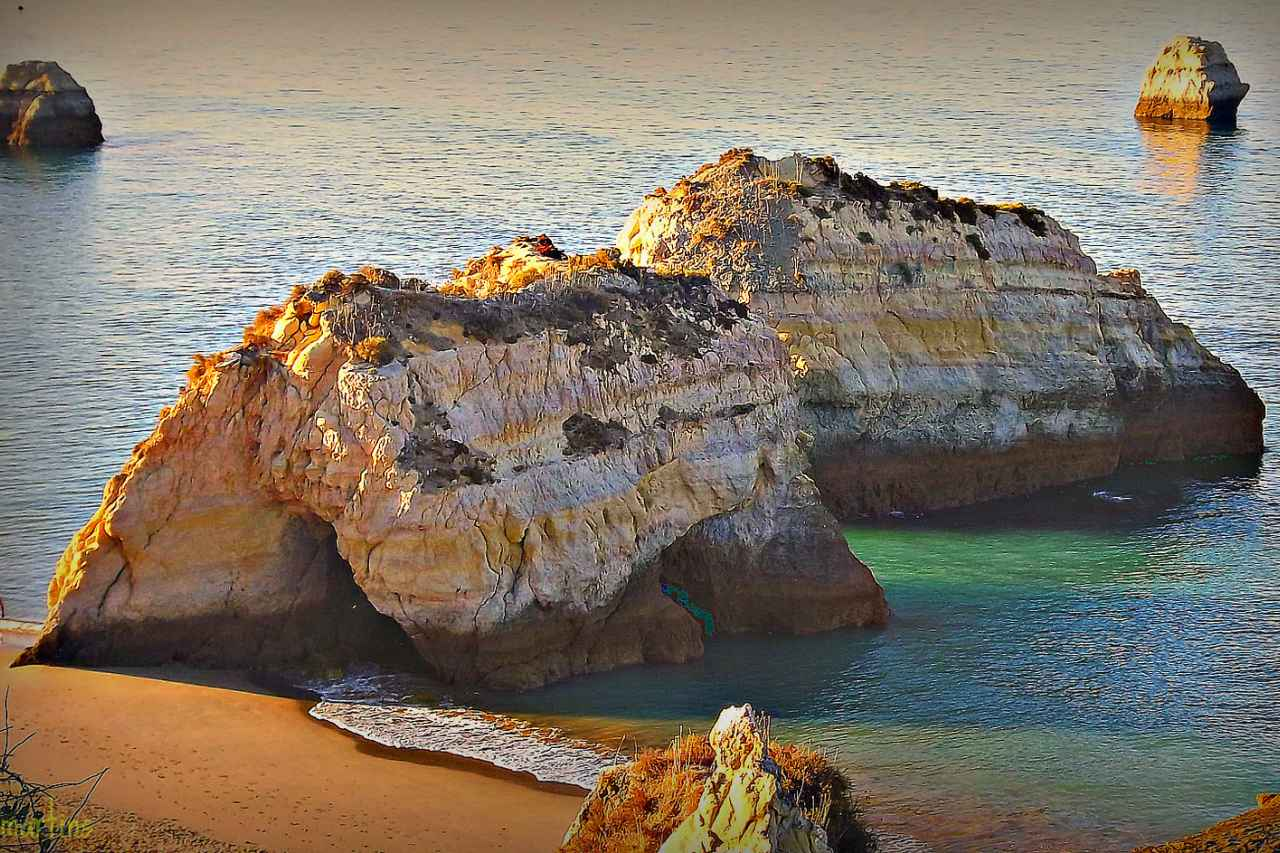 Praia da Rocha Felsen Strand