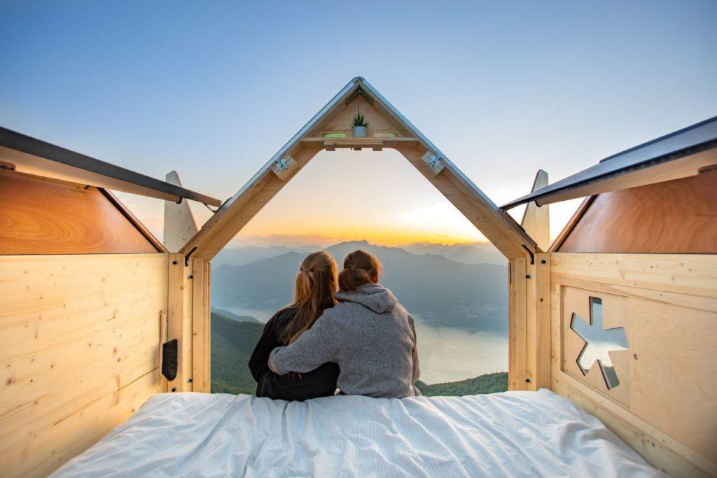 Sonnenuntergang Star Box Monte Gambarogno