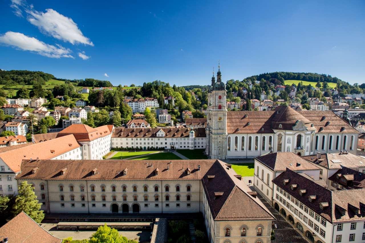 Weltkulturerbe Stiftsbezirk St. Gallen aus der Luft