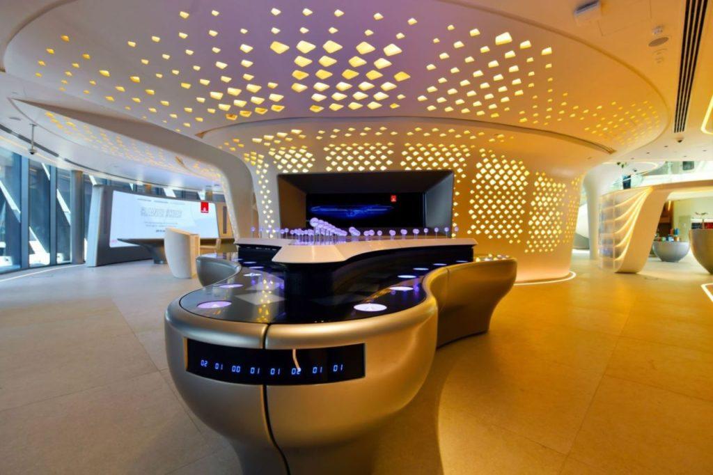 Sammeln der Saat Emirates Pavillon