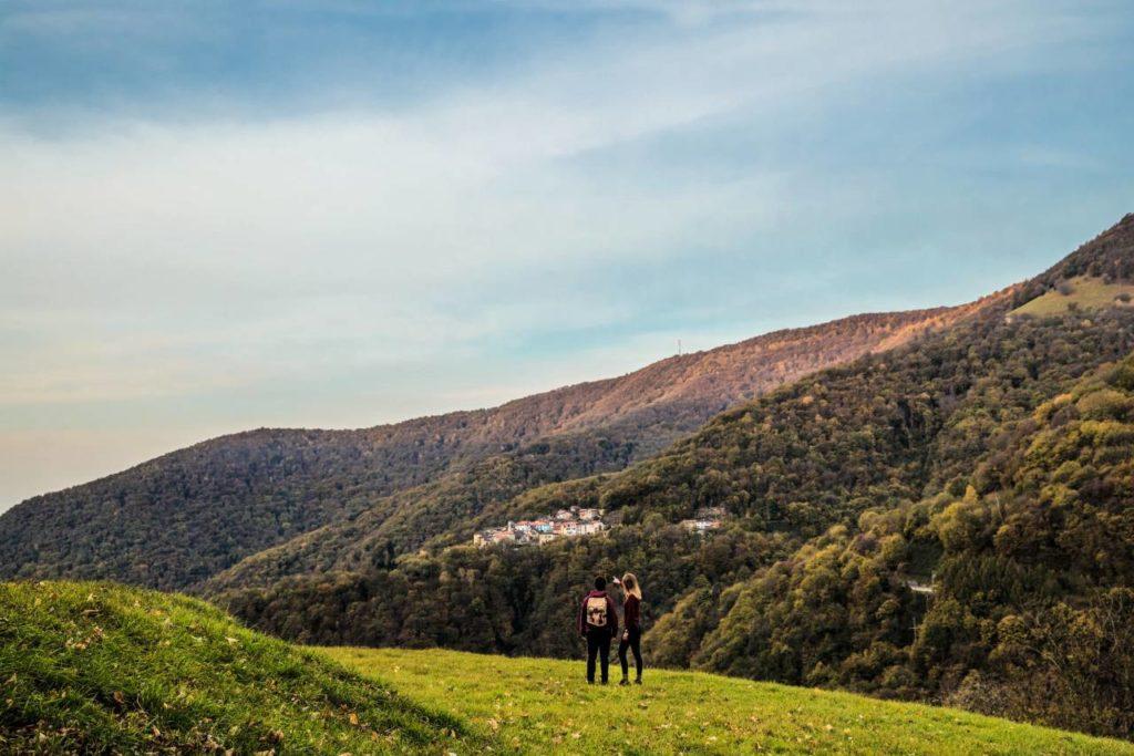 Valle di Muggio Wandern Herbst