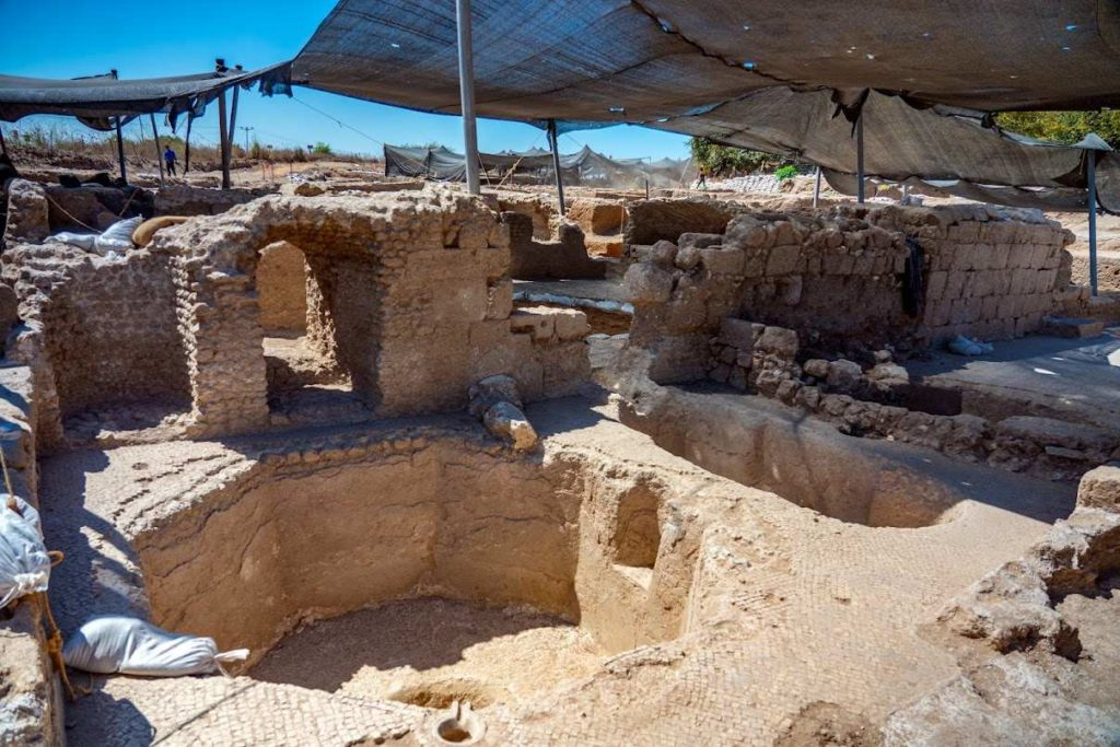 Ausgrabungen Javne Weinpressen byzantinische Zeit