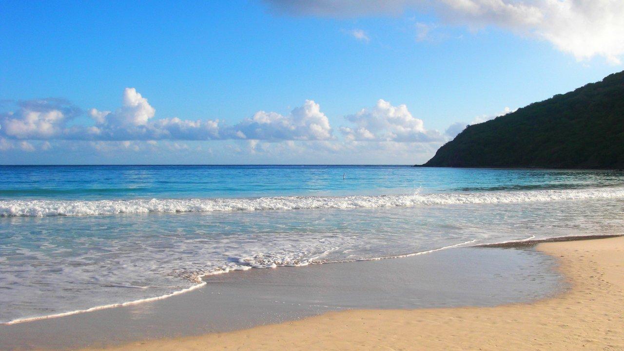 Einsamer Strand Puerto Rico
