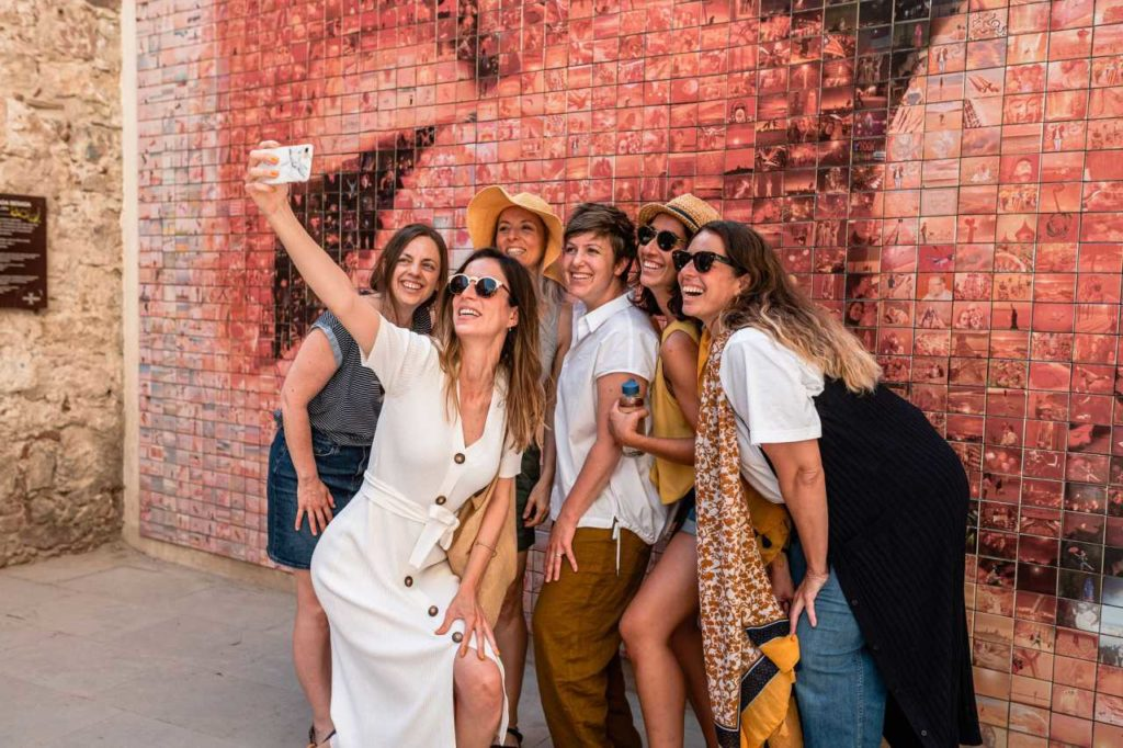 Freisen Selfi Gruppe Barcelona