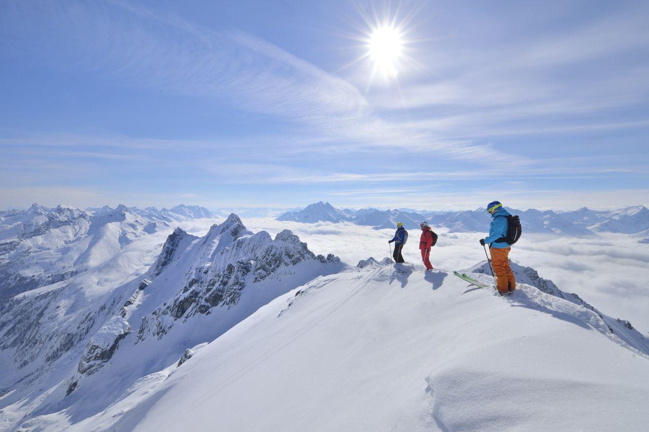 St. Anton am Arlberg Skigebiet Gipfel Aussicht