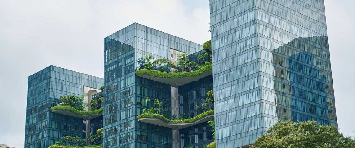 Begrüntes Gebäude Singapur