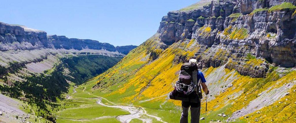 Blick in das Tal von Ordesa in den Pyrenäen