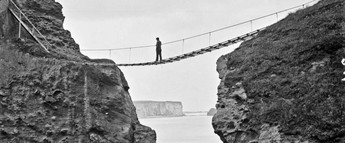 Carrick-a-Rede-Hängebrücke früher