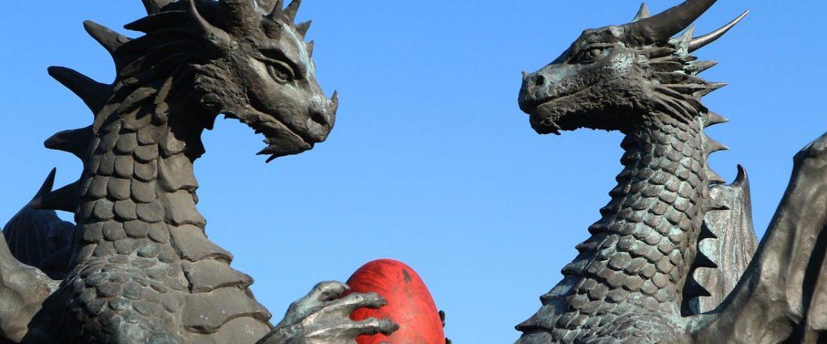 Drachenskulptur in Varna