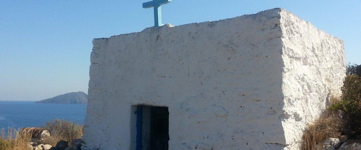 Einsames Gebetshaus auf griechischer Insel