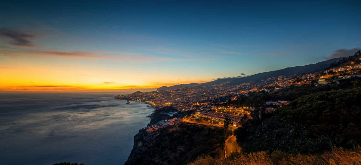 Funchal bei Sonnenuntergang