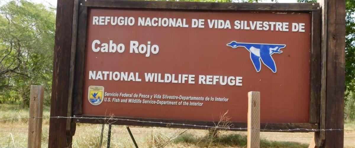 Hinweisschild Cabo Rojo National Wildlife Refuge