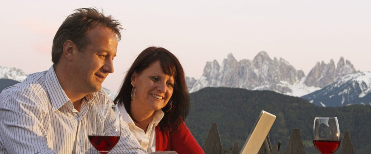 Home Office mit Bergblick Roter Hahn