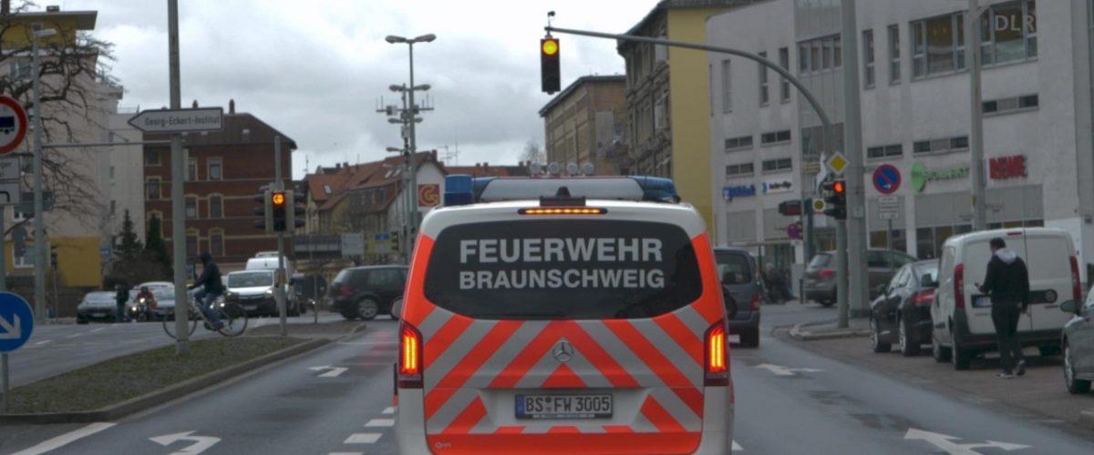 Intelligente Ampelschaltung Rettungsfahrzeug