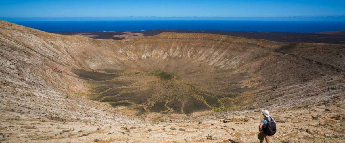 Krater der Caldera Blanca Lanzarote