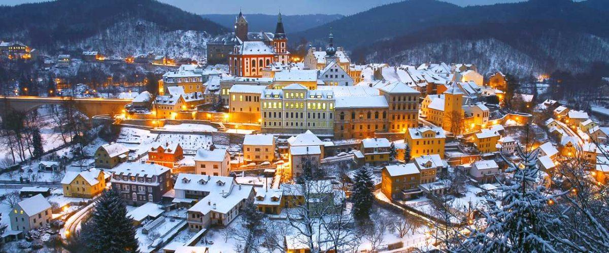 Loket in Tschechien zur Weihnachtszeit