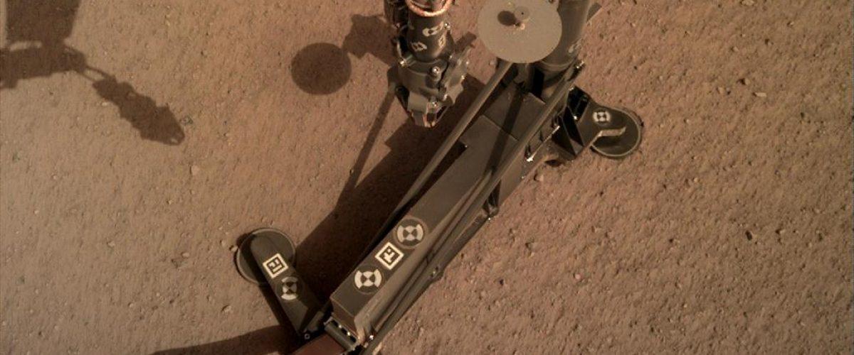 Mars-Roboter HP3 auf dem Marsboden