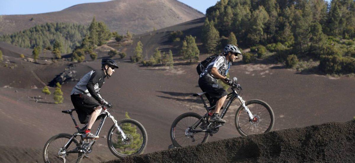 Mountainbiker auf La Palma