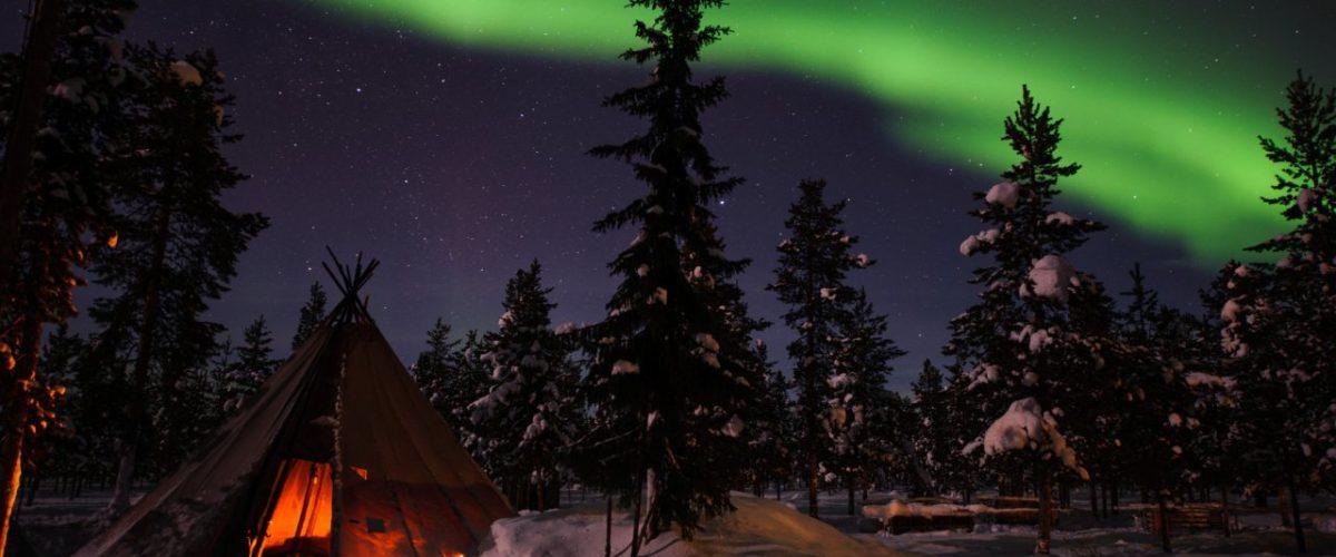 Nordlicht in Jukkasjärvi Lapland