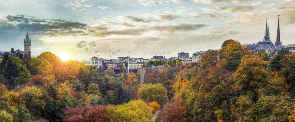 Petrus-Tal mit der Oberstadt von Luxemburg