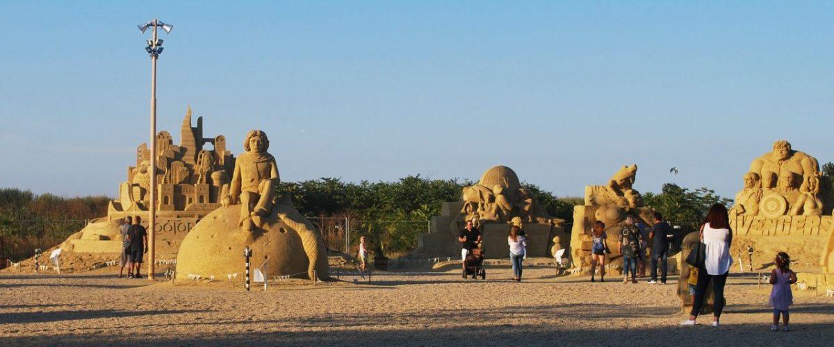 Sandskulpturen Strand Burgas