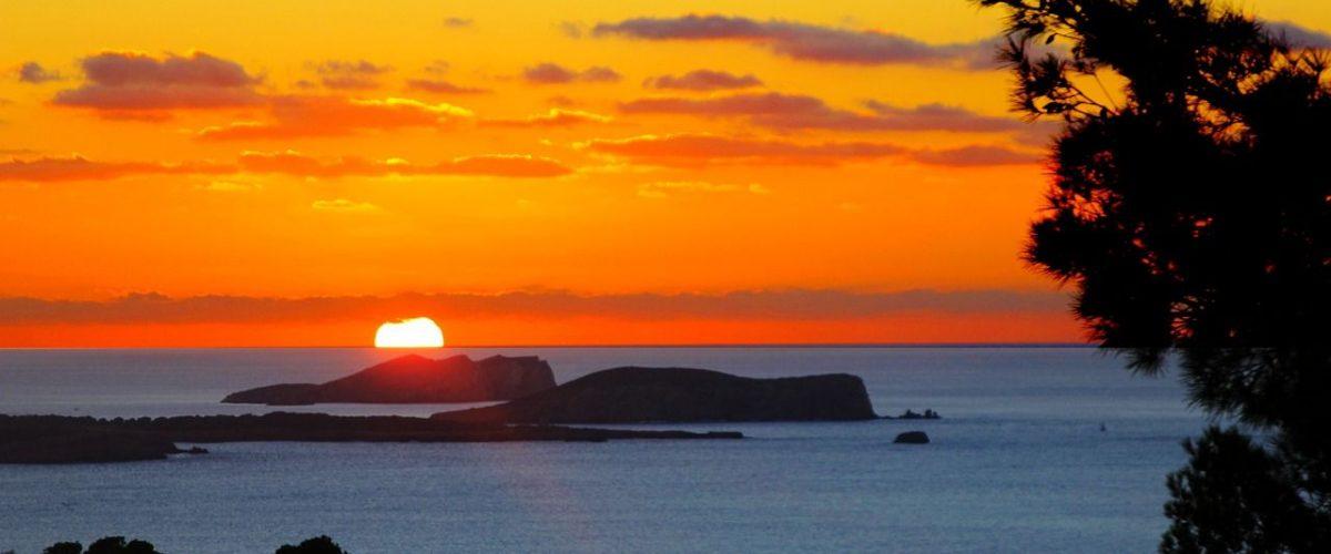 Sonnenuntergang Sant Antonio Bay Ibiza