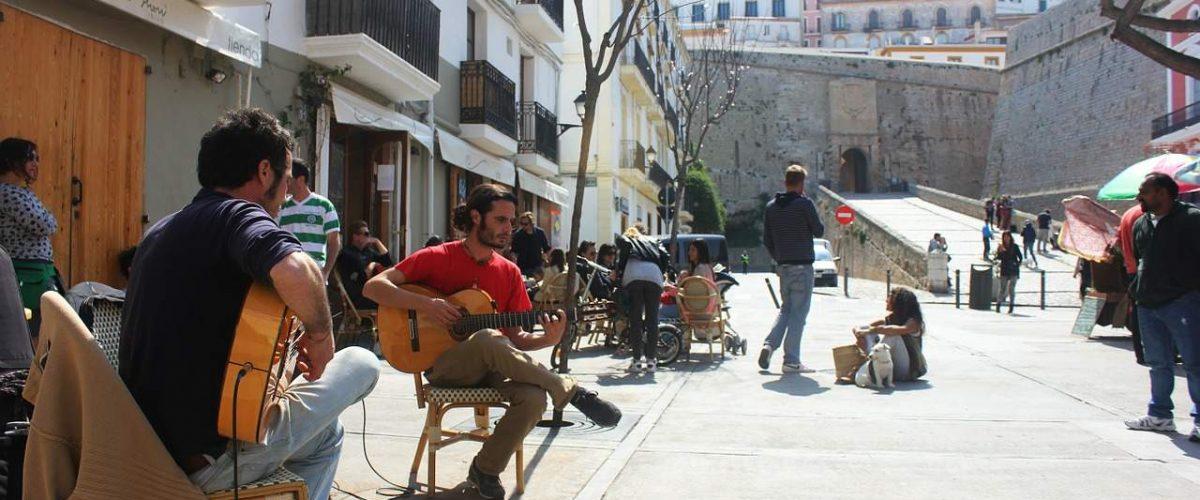 Straßenmusiker Ibiza-Stadt