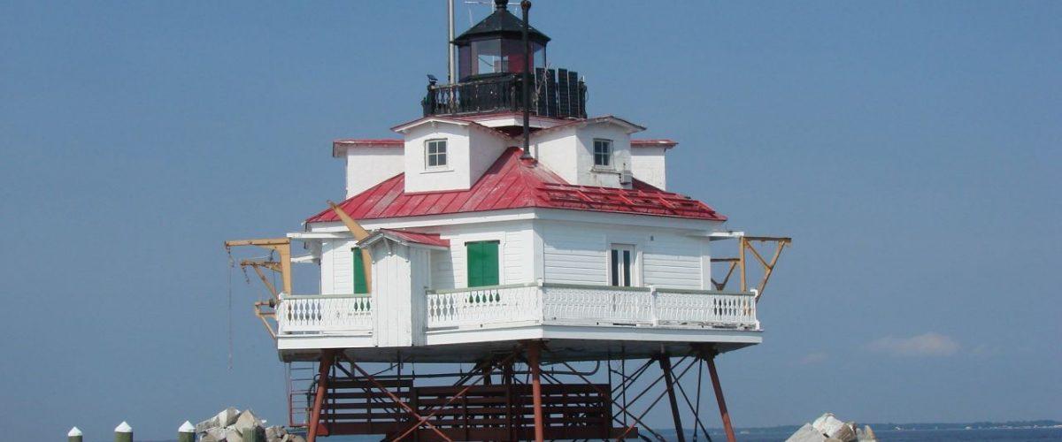 Thomas Point Shoal Lighthouse in Annapolis