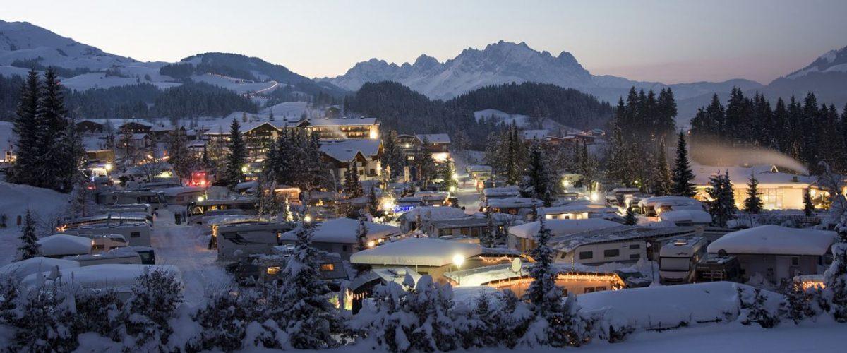 Tirol Camp in Fieberbrunn im Winter