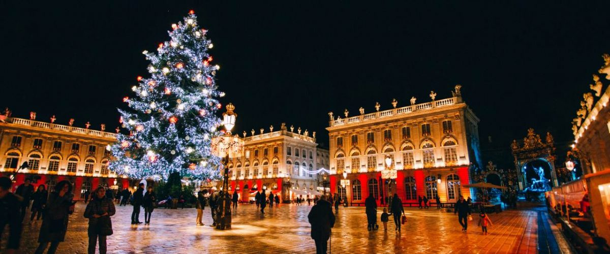 Weihnachtsstimmung auf der Place Stanislas in Nancy