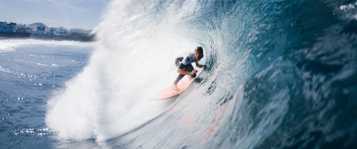 Wellenreiter vor Lanzarote